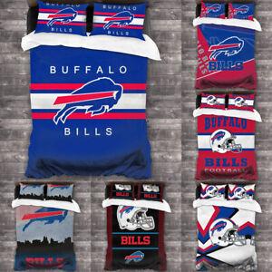 Buffalo Bills Design 3PCS Bedding Set Comforter Cover Pillowcase Duvet Cover Set
