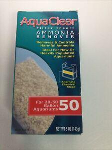 Hagen AquaClear 50 Ammonia Remover Filter Insert Aquarium Media 5 oz A611