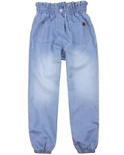 BOBOLI Girl's Denim Pants with Elastic Cuffs, Sizes 4-16