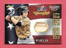 2013 Johnny Field Panini USA Champions Rookie Game Gear Bat - Tampa Bay Rays