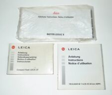 LEICA - THREE INSTRUCTION BOOKLETS