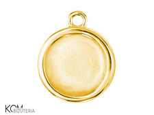 Pendant (bail) 7 mm flat w 106.1 - gold-plated silver