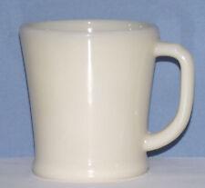 Fire King Glass D Handle Shavingl Mug Ivory 1940's Flat Bottom