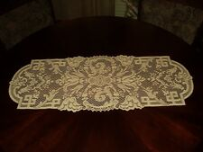 "Golden Ecru Lace Tulip Floral 36"" Table Runner  NEW Made in NC USA"