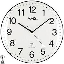 NEU Wanduhr Uhr Funk Funkuhr weiß schwarz AMS Ø 32 cm Büro Praxis Wartezimmer