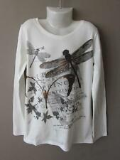 NEXT Girls White Grey Bronze Dragonfly Print Long Sleeve Top Age 9 Years BNWT 6