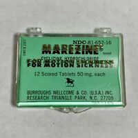Vintage MARAZINE MOTION SICKNESS Clear Plastic Container - Empty
