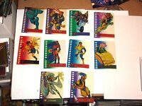 1995 FLEER ULTRA X-MEN SUSPENDED ANIMATION INSERT 10 CARD SET! WOLVERINE! STORM!