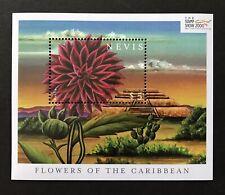 NEVIS 2000 MNH FLOWERS OF THE CARIBBEAN SOUVENIR SHEET DAHLIA STAMPS CACTUS