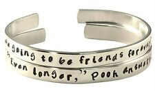 Personalized Friendship Bracelet SET of TWO - Winnie the Pooh and Piglet