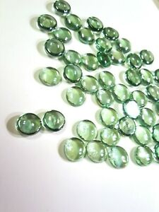16 Light Green Decorative Glass Pebbles Rocks Cabochons Transparent-3 ounce