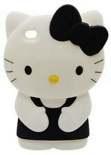 Hello kitty 3D Black Ipod Touch 4 4th Generation Soft Silicone Case Cover