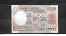 INDIA #79M 1992 UNCIRCULATED 2 RUPEE OLD CURRENCY BANKNOTE BILL NOTE PAPER MONEY