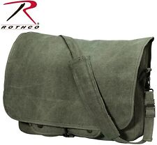 Olive Drab Classic Canvas Paratrooper Shoulder Bag Rothco 9128