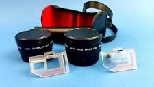 PANAGOR AUX TELEPHOTO AND AUX WIDE ANGLE LENS CONVERTER WITH CASE + ACCESSORIES