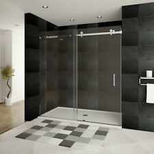 "LessCare 56-60""W x 76""H ULTRA-B Shower Doors Chrome"