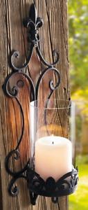 Wandkerzenhalter H.45cm Wand Kerzenhalter rustikal Design Versandkosten FREI