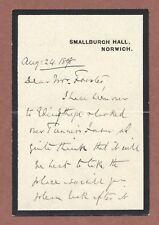 Rev Francis Jickling, Smallburgh Hall Norwich 1898, Edingthorpe, Tanner's   AH17