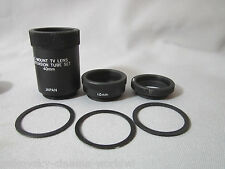 PREMIUM MACRO C-MOUNT LENS EXTENSION TUBES for CLOSE-UP SHOTS all c-mount lenses
