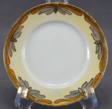 Set of 4 GDA Limoges Hand Painted Yellow & Gilt Butterfly Bread Plates 1900 - 41