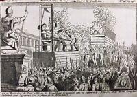 Guillotine 1793 Mort de Brissot Girondins Gravure révolution Française Paris
