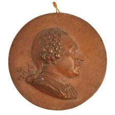ANTIQUE JEAN BAPTISTE NINI PORTRAIT MEDALLION, POSS. KING LOUIS XV