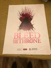 NEW Game of Thrones Poster HBO American Red Cross Promo Exclusive Iron Tgrone
