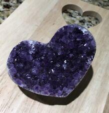 Amethyst Druzy Cluster Heart V 💜💥
