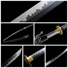 Handmade Japanese Katana Samurai Folded Steel Sword Full Tang Battle Ready Sharp