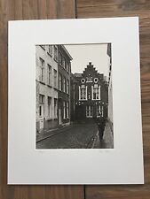 "BRUCE BLUM SIGNED B&W Photo Print (9 1/2""X 13 "")-- ""Bruges """