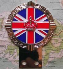 Auto Mascot Badges & Mascots Car Badges British Union Jack Flag Enamel Kings Crown Classic Car Badge