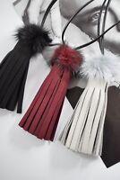 Pom Pom Long Statement Necklace Fur Pendant Fluffy Ball Tassel New Party Jewelry