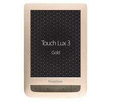 """Pocketbook Touch Lux 3 PB626 Gold 6"""" E-ink Carta E-Book Reader WiFi 8GB Memory"""