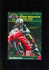 BRITISH MOTORCYCLE RACING CLUB RACE PROGRAMME SNETTERTON 5-6/9/09