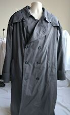 Christian Dior Monsieur Men's Gray Belted Trench Coat Wool Lined 44L Premium