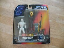 Star Wars Deluxe Crowd Control Stormtrooper-1996-In Orig Blister Pack