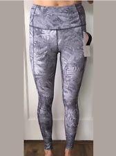 Lululemon Size 8 Fast Free Tight Reflective Gray White KSWM Pant NWT Run Stuff