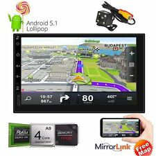 """Android 5.1 3G WIFI 7"""" Double 2DIN Car Radio Stereo DVD Player GPS Nav Bluetooth"""