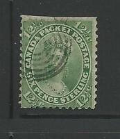 Canada: 1859; Scott 18 used, top cut, VF, Cat +120$. EBN064