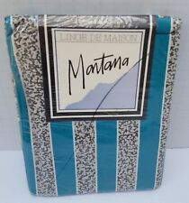 New Mantana Linge De Maison 2 Two Standard Pillowcases Black White & Teal Green