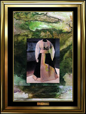 Paul Jenkins Original Oil Painting On Canvas Collage Signed Fashion Artwork Rare