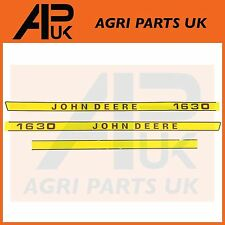 John Deere 1630 Tractor Hood Bonnet Decal Sticker Set Kit Emblem Transfers