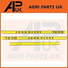 John Deere 1630 Tractor Hood Bonnet Decal Sticker Set Kit Emblem Transfers