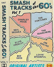 SMASH TRACKS OF THE 60'S VOL 1  BEE GEES FURY PRESLEY SEDAKA CASSETTE ALBUM