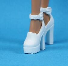 Barbie White Block Heel Platform Sandal Shoes Heart Purse fits Basic Model Muse