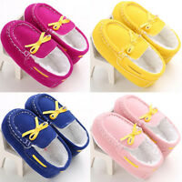 Winter Warm Newborn Baby Girls Crib Shoes Anti-slip Cotton Flat Boots Prewalkers
