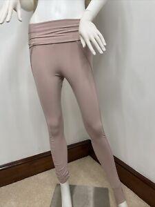 Adidas Stella McCartney Pink Leggings w/ Foldover Waistband and foot strap S NWT