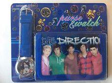 Childrens Kids Girls Reflective One Direction Purse Blue Wallet & Watch Gift Set