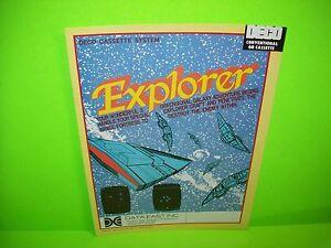 Data East EXPLORER Deco Cassette 1982 Video Arcade Game Promo Sales Flyer