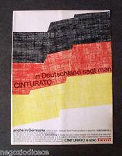 [GCG] P398 - Advertising Pubblicità -1968- CINTURATO PIRELLI , IN GERMANIA